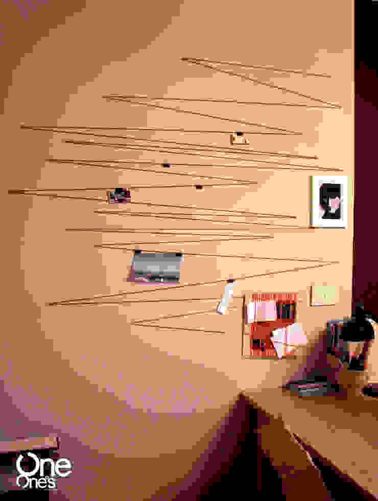 String Out! wall od OneOnes Creative Studio Minimalistyczny