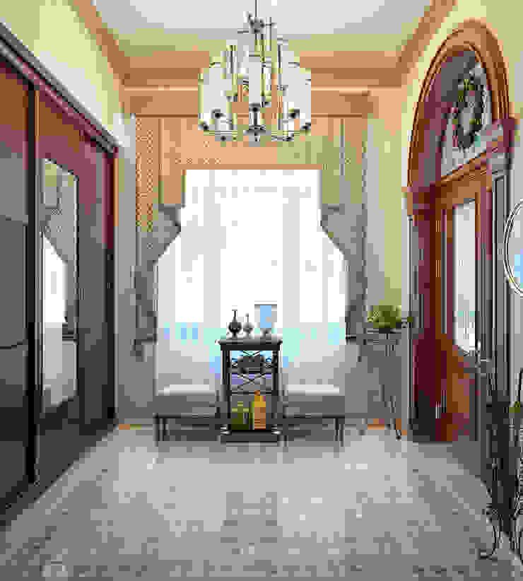 Небольшой холл в частном доме Коридор, прихожая и лестница в классическом стиле от Sweet Home Design Классический