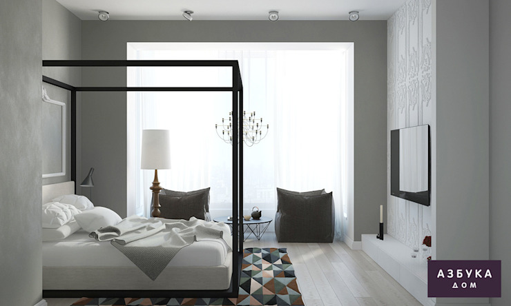 Eclectic style bedroom by Студия дизайна 'Азбука Дом' Eclectic