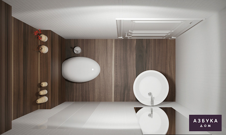 Eclectic style bathroom by Студия дизайна 'Азбука Дом' Eclectic