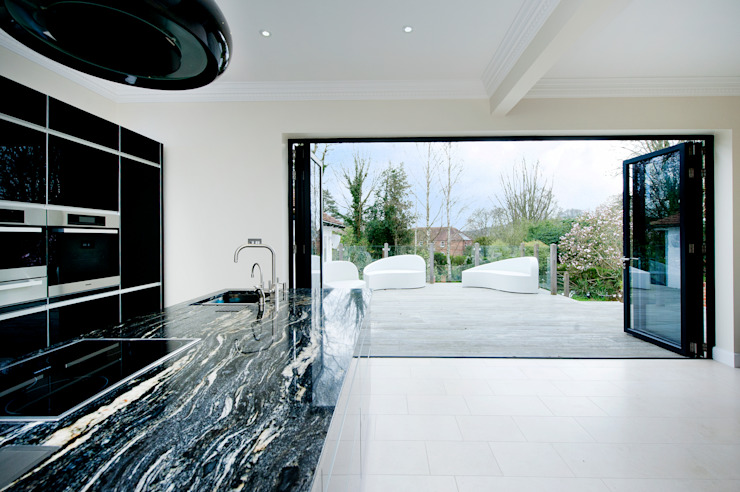 Kitchen Development with Bi Folding Doors Modern Windows and Doors by ROCOCO Modern