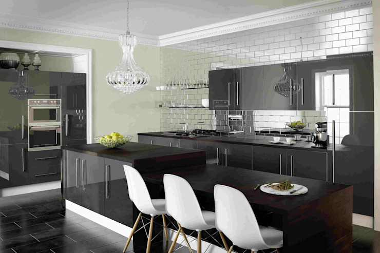 Metallic Anthracite Kitchen Dream Doors Ltd CocinaAlmacenamiento y despensa