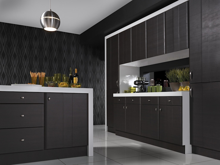 Grove Dark Oak Melinga Kitchen di Dream Doors Ltd Minimalista
