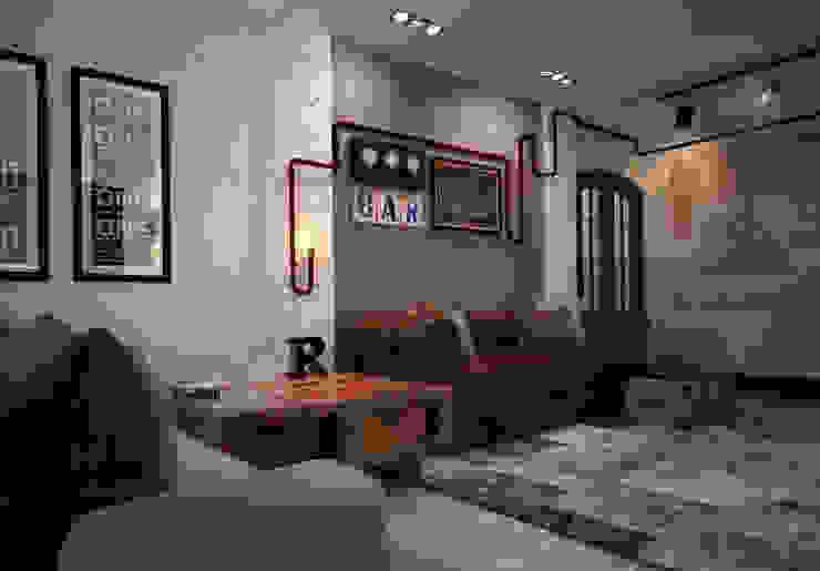 Кухня-гостиная Гостиная в стиле лофт от Reroom Лофт