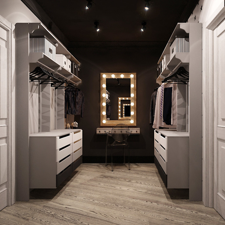 Industrial style dressing rooms by Reroom Industrial