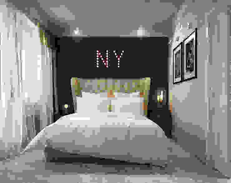 NY loft Спальня в стиле лофт от Reroom Лофт