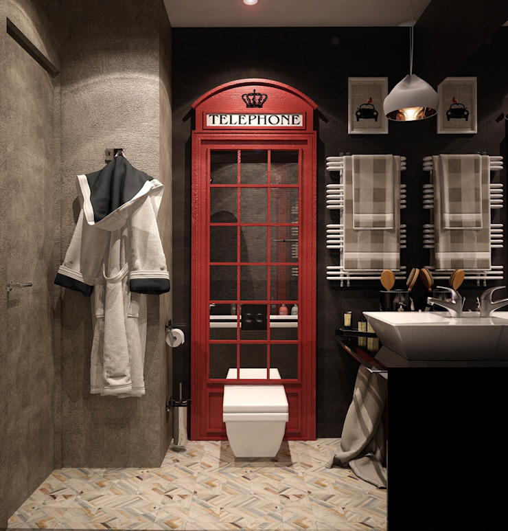 NY loft Ванная в стиле лофт от Reroom Лофт