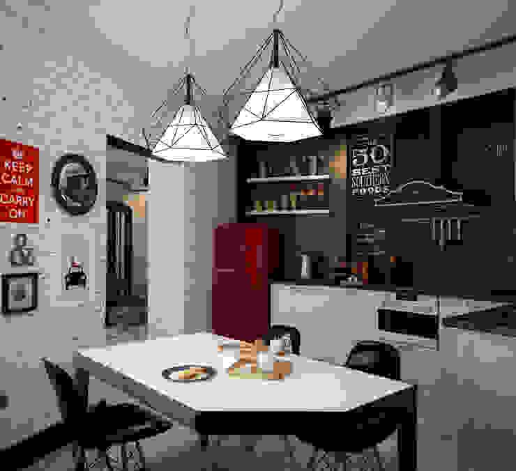 Кухня-гостиная Кухня в стиле лофт от Reroom Лофт