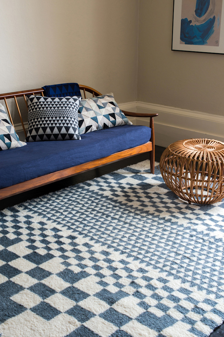 Chess Rug: minimalist  by Niki Jones, Minimalist