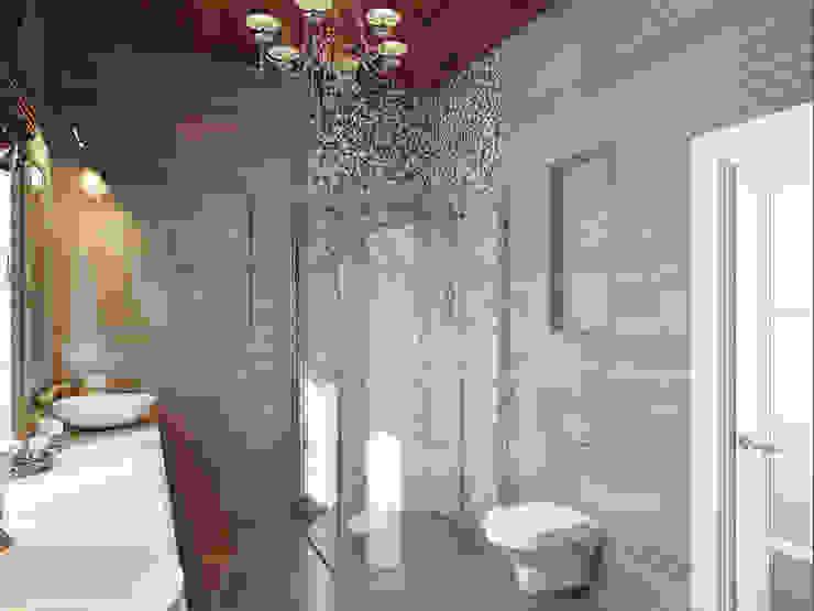 Дом в Павловске Ванная комната в эклектичном стиле от Студия дизайна интерьера Маши Марченко Эклектичный