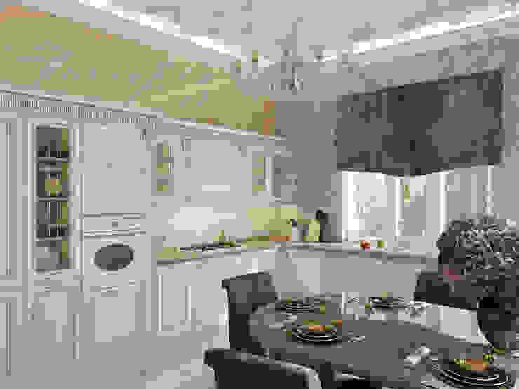 Дом в Павловске Кухни в эклектичном стиле от Студия дизайна интерьера Маши Марченко Эклектичный