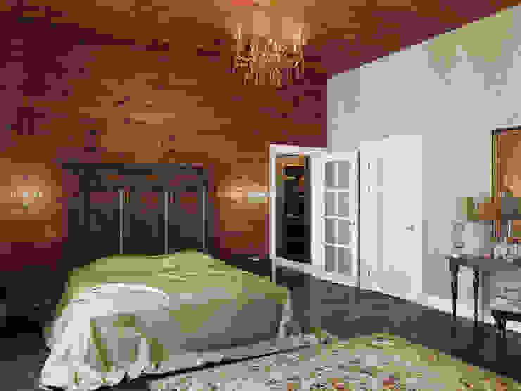 Дом в Павловске Спальня в эклектичном стиле от Студия дизайна интерьера Маши Марченко Эклектичный