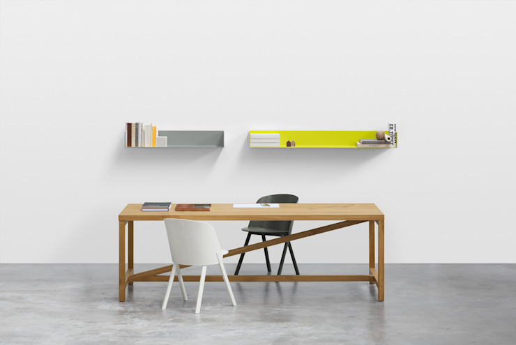 Table PLATZ Modern Study Room and Home Office by e15 Modern