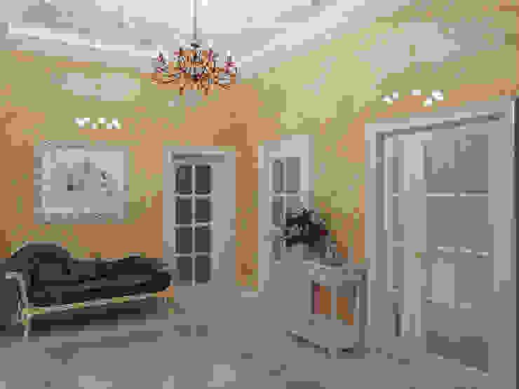 Дом в Павловске Коридор, прихожая и лестница в эклектичном стиле от Студия дизайна интерьера Маши Марченко Эклектичный