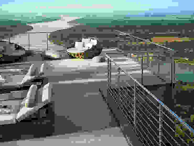 Balkon, veranda & terras door IAM Design