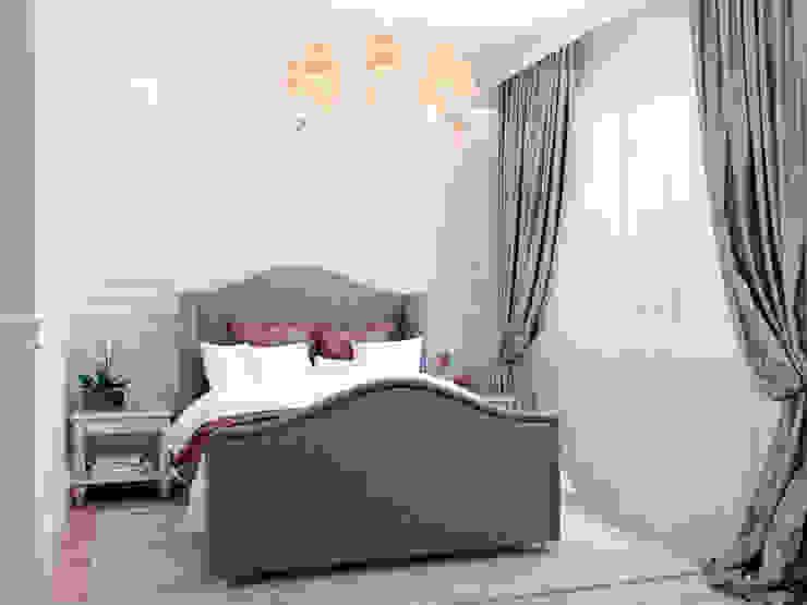 غرفة نوم تنفيذ Студия дизайна интерьера Маши Марченко,
