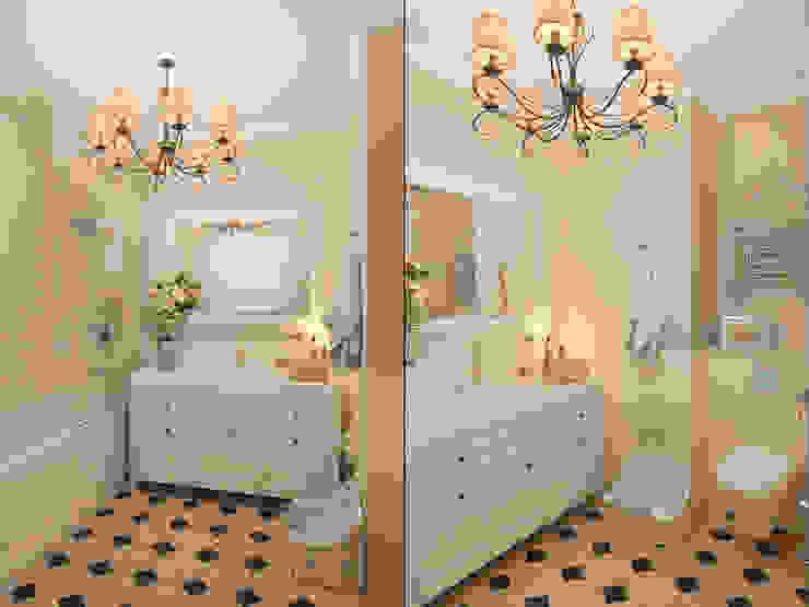 Французский уголок в <q>Балтийской жемчужине</q> Ванная комната в эклектичном стиле от Студия дизайна интерьера Маши Марченко Эклектичный