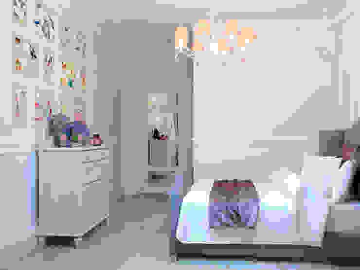 Французский уголок в <q>Балтийской жемчужине</q> Спальня в эклектичном стиле от Студия дизайна интерьера Маши Марченко Эклектичный