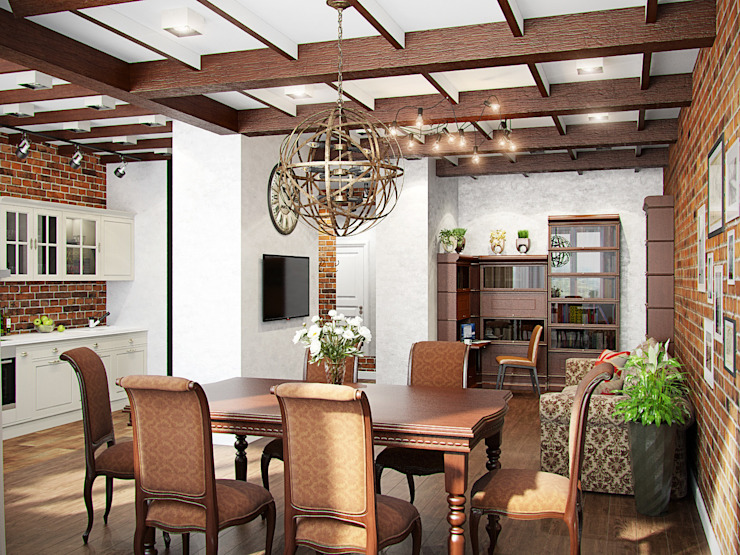 Лофт в петербургском стиле Гостиная в стиле лофт от Студия дизайна интерьера Маши Марченко Лофт