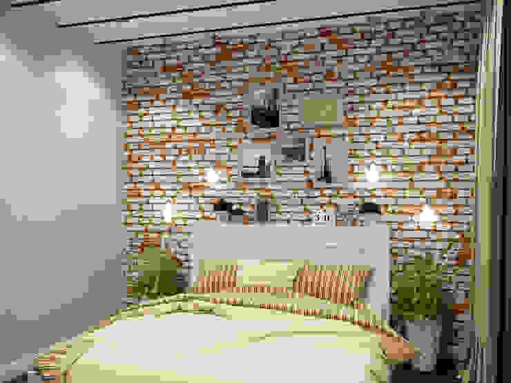 Лофт в петербургском стиле Спальня в стиле лофт от Студия дизайна интерьера Маши Марченко Лофт