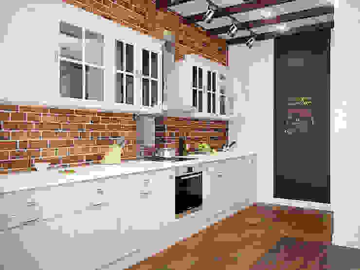 Лофт в петербургском стиле Кухня в стиле лофт от Студия дизайна интерьера Маши Марченко Лофт