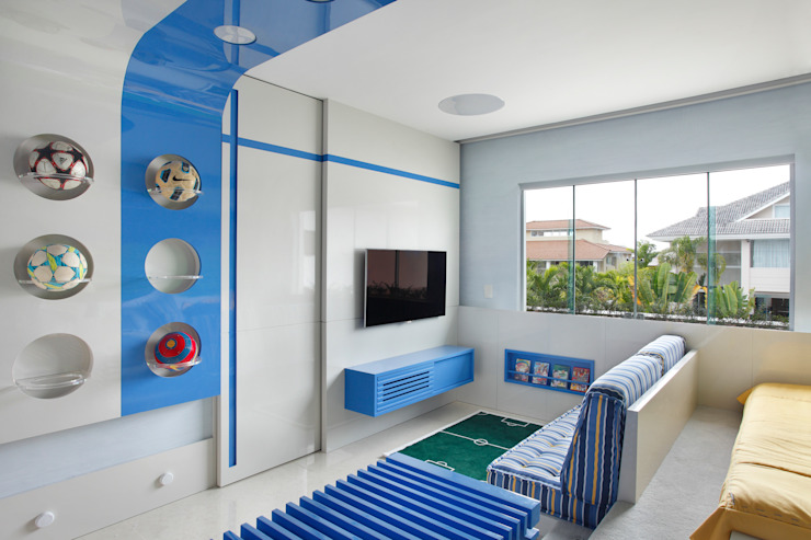 Arquitetura Residencial | Casa de luxo na Barra da Tijuca Leila Dionizios Arquitetura e Luminotécnica Quarto infantil moderno