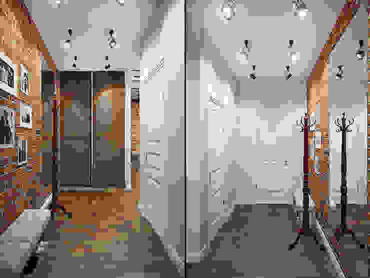 Industrial corridor, hallway & stairs by Студия дизайна интерьера Маши Марченко Industrial