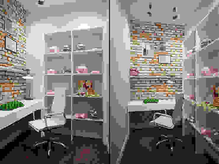Лофт в петербургском стиле Рабочий кабинет в стиле лофт от Студия дизайна интерьера Маши Марченко Лофт