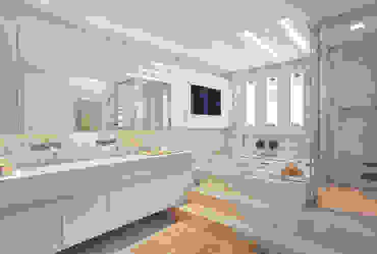 Casas de banho  por Leila Dionizios Arquitetura e Luminotécnica,