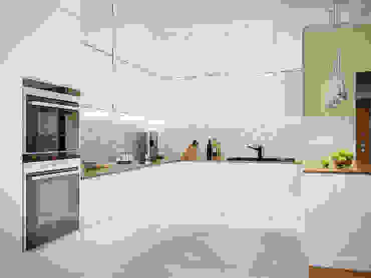 Квартира в ЖК <q>Космос</q> Кухня в скандинавском стиле от Студия дизайна интерьера Маши Марченко Скандинавский
