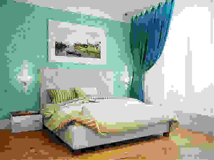 Квартира в ЖК <q>Космос</q> Спальня в скандинавском стиле от Студия дизайна интерьера Маши Марченко Скандинавский