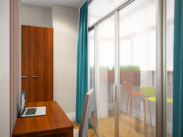 Квартира в ЖК <q>Космос</q> Балкон в скандинавском стиле от Студия дизайна интерьера Маши Марченко Скандинавский