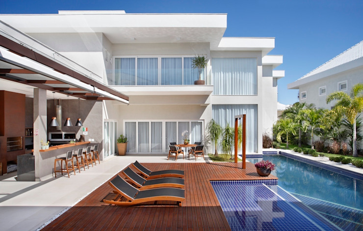 Casas de estilo  por ANGELA MEZA ARQUITETURA & INTERIORES,