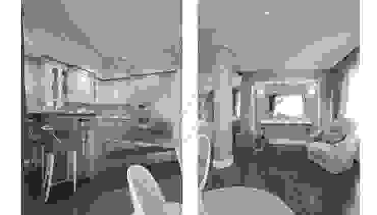 Дизайн коттеджа в коттеджном поселке «Эдельвейс» Гостиная в стиле модерн от KV-Design Модерн