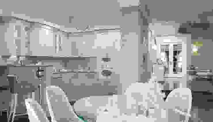 Дизайн коттеджа в коттеджном поселке «Эдельвейс» Кухня в стиле модерн от KV-Design Модерн