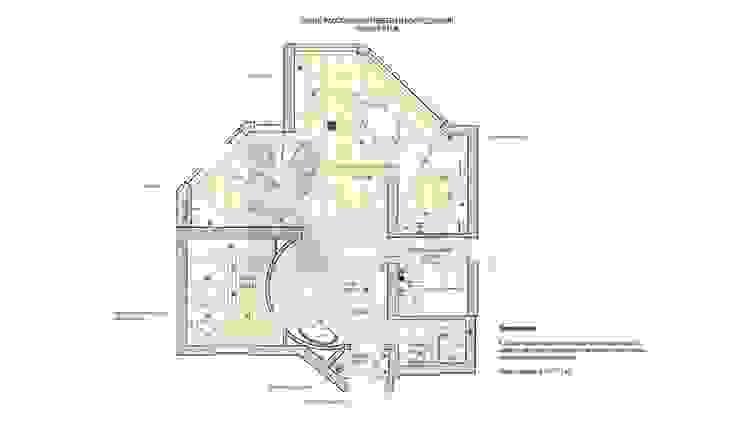 Дизайн коттеджа в коттеджном поселке «Эдельвейс»:  в современный. Автор – KV-Design, Модерн