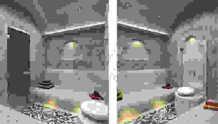 Дизайн коттеджа в коттеджном поселке «Эдельвейс» Спа в стиле модерн от KV-Design Модерн