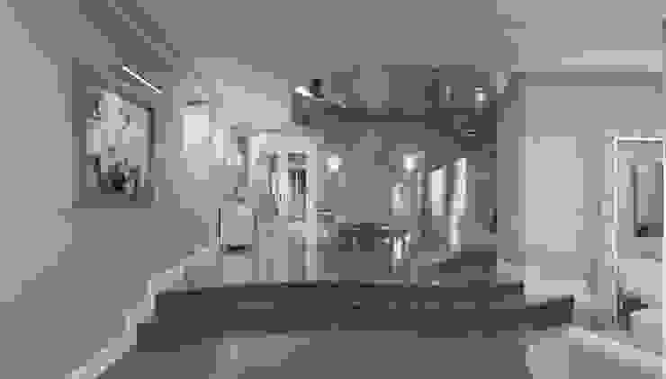 Дизайн коттеджа в коттеджном поселке «Эдельвейс» Коридор, прихожая и лестница в модерн стиле от KV-Design Модерн