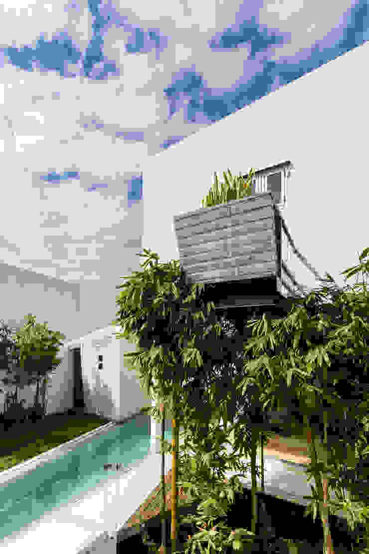 Ten House Balcones y terrazas minimalistas de Taller ADC Architecture Office Minimalista