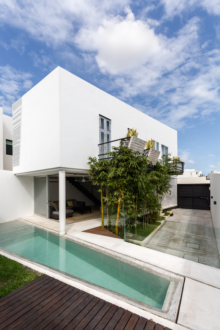 perspectiva de la casa Albercas minimalistas de Taller ADC Architecture Office Minimalista