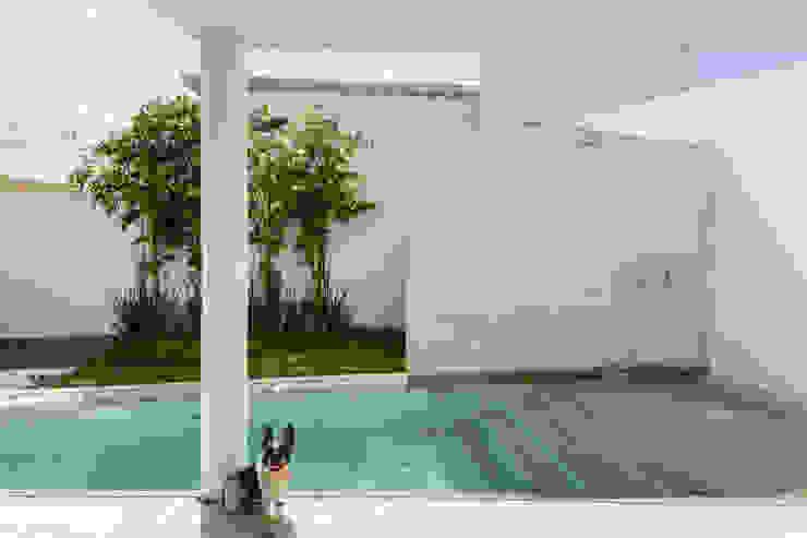 Alberca con fuente Albercas minimalistas de Taller ADC Architecture Office Minimalista