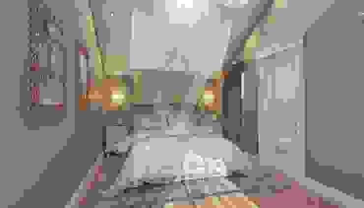 Дизайн коттеджа в коттеджном поселке «Эдельвейс» Спальня в стиле модерн от KV-Design Модерн