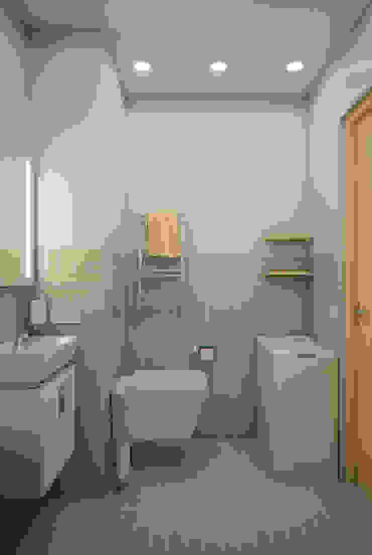 Yellow on grey Ванная комната в стиле минимализм от Marina Sarkisyan Минимализм