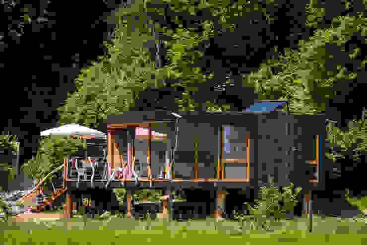 Zwarthout Shou Sugi Ban Casas estilo moderno: ideas, arquitectura e imágenes