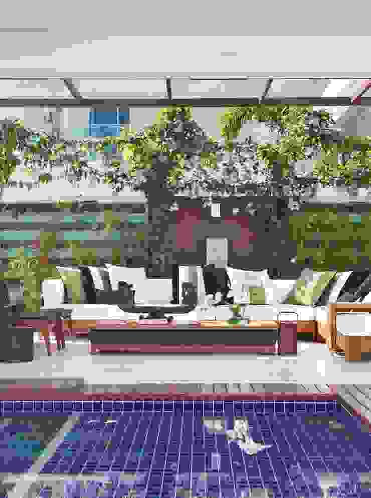 ANGELA MEZA ARQUITETURA & INTERIORES Balcon, Veranda & Terrasse modernes