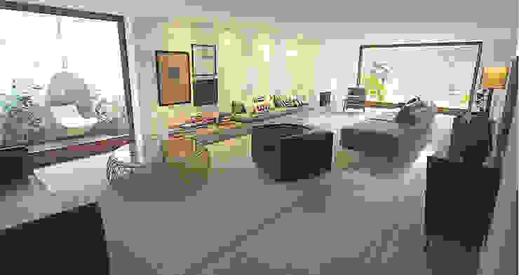 Casa Rath Salas de estar modernas por SAO Arquitetura Moderno