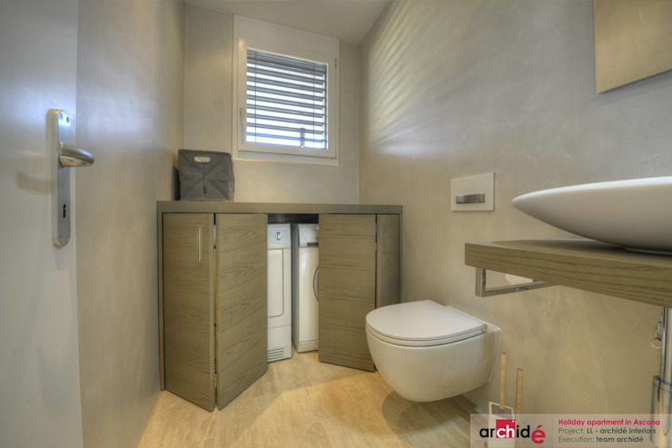Archidé SA interior design Minimalist style bathroom