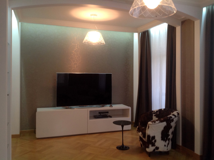 Salas de estilo moderno de Бюро Акимова и Топорова Moderno