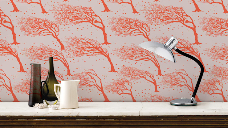 Bold & Noble Northeasterly Wallpaper in Sunrise de Bold & Noble Rural