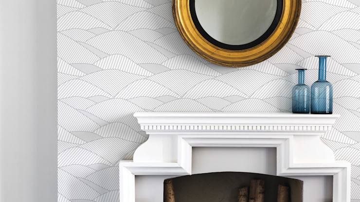 Bold & Noble South Downs Wallpaper in Heron Grey de Bold & Noble Moderno